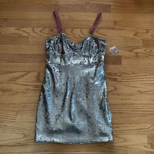 NWOT Free People Bali Ciao Belle Sequin Dress, Sm